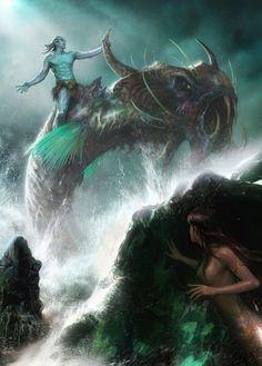 AFFBooks   Swim with Mermaids   Creative Fantasy Art by Yin Yuming