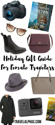 This is the ultimate holiday gift guide for female travelers. From travel gadgets and gear, to accessories and travel-inspired home decor, this gift guide has something for every female traveler!