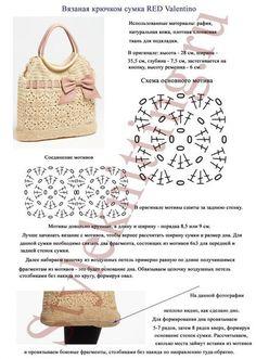 Irish crochet &: BAG RED VALENTINO