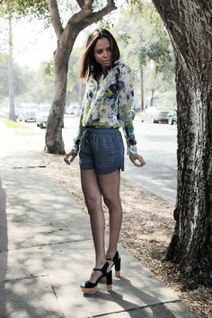 Zara shirt and shorts, Dolce Vita shoes