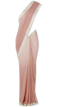 Pink and ivory sari by TARUN TAHILIANI. http://www.perniaspopupshop.com/designers-1/tarun-tahiliani