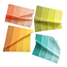 Napkins  Paint Chip Napkins  Set of 4 Summer by avrilloreti, $60.00