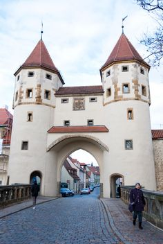 Amberg - many of these villages are hundreds of years old and some, like Amberg, still have the original wall in place.