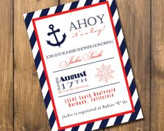 Nautical Boy Baby Shower Invitation by AlexBehmDesigns on Etsy