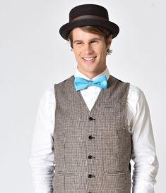 1930s Mens Hat Fashion Brown Porkpie Hat  38.00 AT vintagedancer.com 1920s  Mens Hats 857e0a73caff