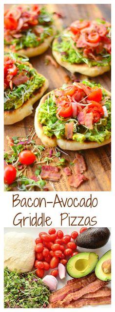 Bacon-Avocado Griddle Pizzas