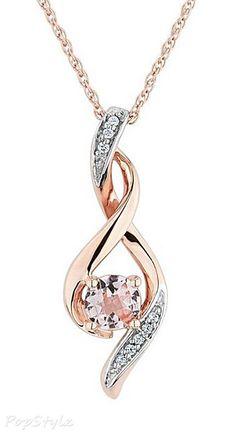 Morganite & Diamond beauty bling jewelry fashion