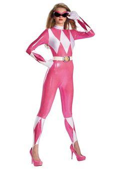 8d3d488bc7331 Pink Ranger Sassy Bodysuit Costume