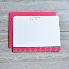 Red Herringbone Personalized Christian Stationery Set by Abide Ink   Stationery For Men    Family Stationery   Red White Blue Stationery   Teacher Appreciation   Mother's Day   Father's Day   Note Card Set with Bible Verse Scripture