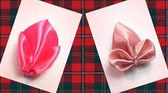В этом канзаши мастер классе я покажу как сделать 2 вида лепестков из ленты 2,5 см. Как сделать интересные лепестки канзаши для цветов : DIY Flower Petals Tu...