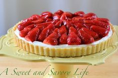 A glamorous dessert that couldn't be simpler to make! Marge Perry's Strawberry Cheesecake Tart
