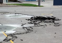 Destroyed pavement in the Halswell Primary School grounds. | Canterbury Earthquake Recovery Authority