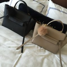 Can t say no to the Celine belt bag. Add in a matching pom 02be27146d4e1