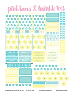 Free Erin Condren LifePlanner sticker printable - Fresh Floral theme - vertical planner printable