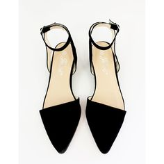 Pointy Ankle Strap Flats ($68) ❤ liked on Polyvore