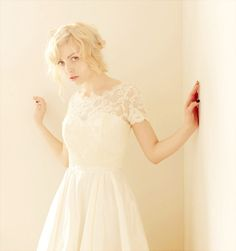 2 Piece, Lace and Silk Wedding Dress #wedding #dress www.loveitsomuch.com