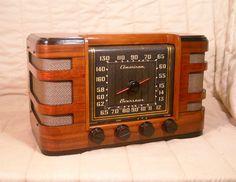Old Antique Wood Crosley Vintage Tube Radio Restored Working Art Deco Table Top   eBay