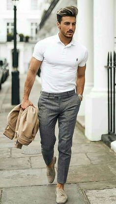 men's style trends you should undoubtedly try 28 is part of Mens fashion - men's style trends you should undoubtedly try 28 Best Mens Fashion, Mens Fashion Suits, Men Looks, Polo Shirt Outfits, Mode Man, Formal Men Outfit, Stylish Mens Outfits, Classy Outfits, Men Casual
