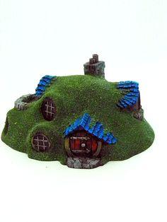 Halfling Home 03 - Custom Kingdoms Game Terrain, Miniature Houses, Diorama, Scenery, Miniatures, Christmas Ornaments, Holiday Decor, Towers, Castles