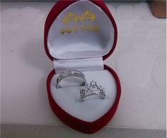His & Hers Matching Couple Sterling Silver Engagement Rings Bands Set | Yoyoon - 7476