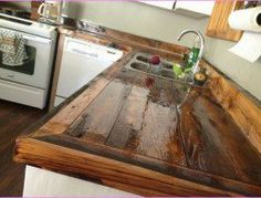 Porcelain Wood Tile Countertop I NEVER Thought To Use