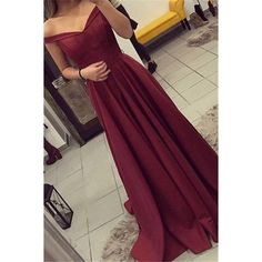 Burgundy Prom Dress, Off The Shoulder Prom Dress, Simple Party Dress Long, Elegant Evening Gown, Long Prom Dresses Prom Dresses 2018, Cheap Prom Dresses, Dresses For Teens, Sexy Dresses, Pretty Dresses, Beautiful Dresses, Dress Outfits, Dress Up, Dress Long