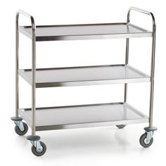 "Choice 33 3/4"" X 21"" X 37"" Knocked Down 18 Gauge Stainless Steel 3 Shelf Utility…"