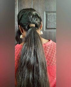Indian Long Hair Braid, Braids For Long Hair, Open Hairstyles, Braided Hairstyles, Long Black Hair, Ponytail, Dreadlocks, Long Hair Styles, Smile