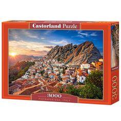 Pietrapertosa Olaszország 3000 db-os puzzle – Castorland - T Dubrovnik, Scooby Doo, Puzzle, Italy, Rio De Janeiro, Prague, Puzzles, Italia, Riddles