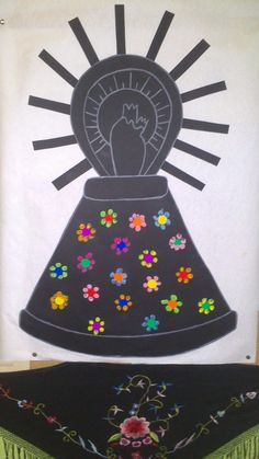 Virgen del Pilar: Mantón Angel, Activities, Crafts, Color, Scrappy Quilts, Virgin Mary, Infant Crafts, Crafts For Kids, Painting Activities