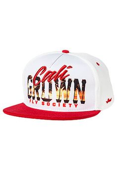 The Cali Grown Snapback in White by Fly Society