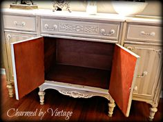 Antique French Sideboard Buffet Reserved for por CharmedByVintage