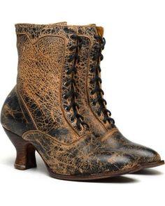 Edwardian Titanic aged style boots : Oak Tree Farms Elizabeth II Lux Boots  AT vintagedancer.com