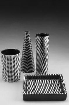 `Domino´ Stig Lindberg   Gustavsberg  Year: '50s  Glazed ceramic. Gustavsberg factory marks. Sold as a set