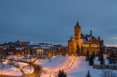 Syracuse University in the winter