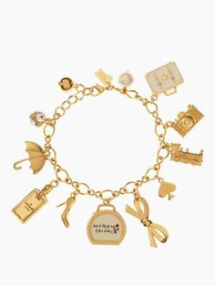 travel charm bracelet #KateSpade