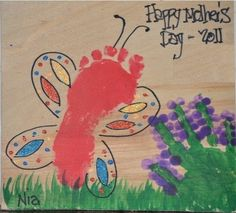 mothers day craft - I wish my husband would do something like this with Harley for me!