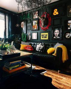 30+ Elegant Dark Living Room Ideas (Dramatic Paint Inspiration) - #dramatic #elegant #ideas #inspiration #living #paint - #decoration