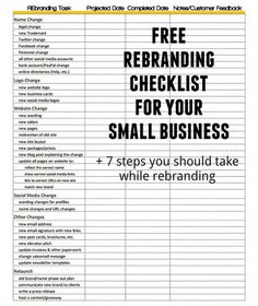 Branding or re-branding your /search/?q=%23smallbusiness&rs=hashtag? Download our free checklist and check out our tips on the process of small business or freelance rebranding.