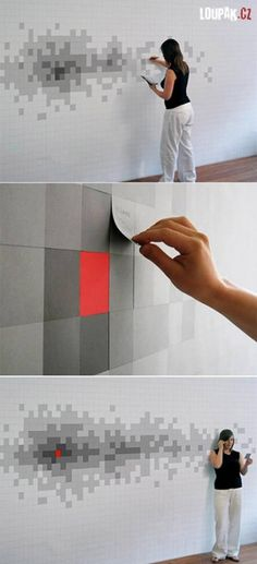Post It Wall.  Nice idea!