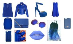 """""""Day and Night 31-Dark Blue"""" by marianaraposo on Polyvore featuring Coast, Hervé Léger, Miss Selfridge, Sans Souci, MICHAEL Michael Kors, Tory Burch, Nly Shoes, Dolce&Gabbana and Lime Crime"""