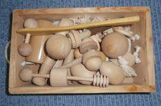 Panera de fusta amb diferents tipus de fusta: tacte, sonoritat, combinacions...
