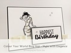 Colour Your World Blog Hop - Grayscale Challenge - anna's paperbox