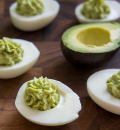 Click Pic for  50 St Patricks Day Food Ideas - Guacamole Deviled Eggs