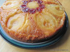 Pear and Elderflower Upside-down Cake