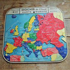 Vintage European map Jigsaw puzzle style / by PetitMignonGrandBeau