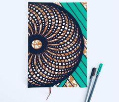 2018 Diary, planner, agenda, organiser, journal, african fabric, ankara, A4 diary by MissSemedoCreations on Etsy