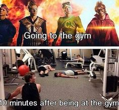 I'm pretty awkward in the gym but yes the bottom one is true