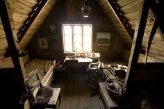 32 Attic Bedroom Design Ideas. My grandparents and great grandparents actually grew up in a bedroom like this one.