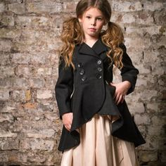 Black Frock Coat | Little Wardrobe London | Wolf & Badger